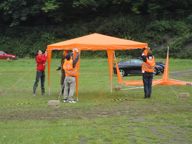 terug van het EK, de oranjecamping