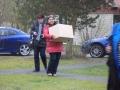 Rachel met grote doos
