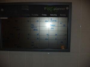 De weekplanner op het toilet
